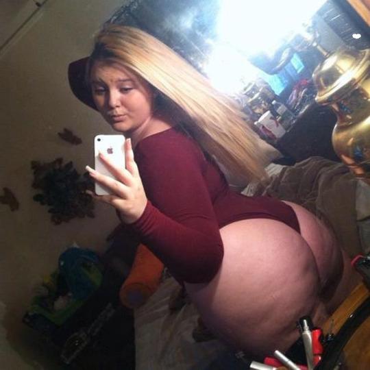 Foto de Chica se toma selfie de su jugoso trasero