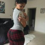 Selfie en pantalon de cuadros