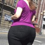 Tremendo culote en pantalon ajustado