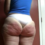 Un culo gordo en panty muy apretado