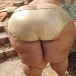Culote ancho en panty dorado