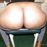 Un culo gordo sentado
