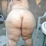Gorda culona en tanga hilo