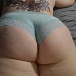 Gordita culona en cachetero azul