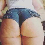 Cachetero de jeans en culona
