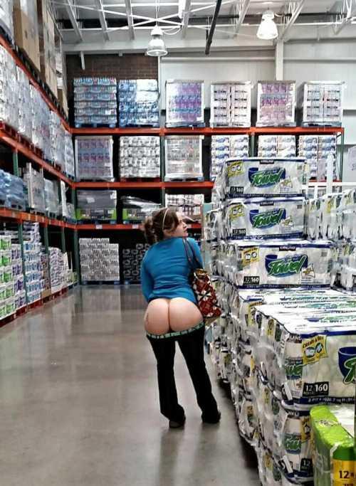Foto de Culona en el super mercado