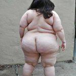 Gorda culona desnuda